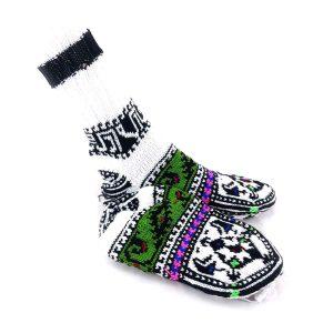 جوراب دست بافت کاموایی ساقدار کد211