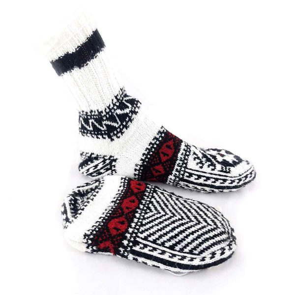 جوراب دست بافت کاموایی ساقدار کد212