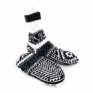 جوراب دست بافت کاموایی ساقدار کد213