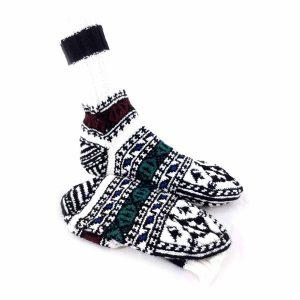 جوراب دست بافت کاموایی ساقدار کد214