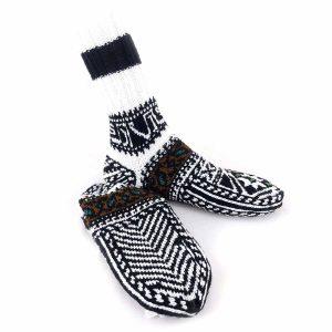 جوراب دست بافت کاموایی ساقدار کد215