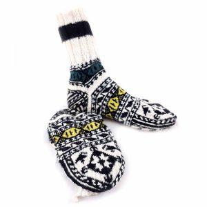 جوراب دست بافت کاموایی ساقدار کد217