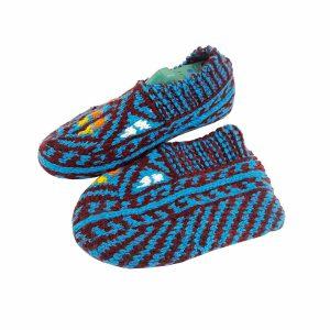 جوراب بافتنی کاموایی زنانه کردستان کد 3