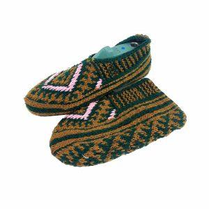 جوراب بافتنی کاموایی زنانه کردستان کد 5
