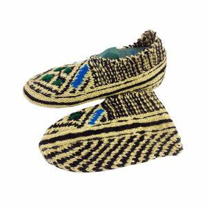جوراب بافتنی کاموایی زنانه کردستان کد 10