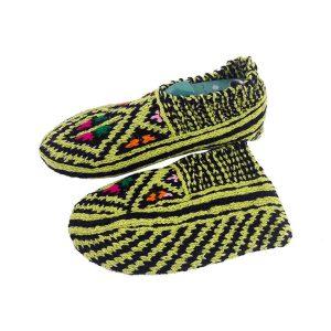 جوراب بافتنی کاموایی زنانه کردستان کد 19