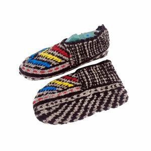 جوراب بافتنی کاموایی زنانه کردستان کد 20