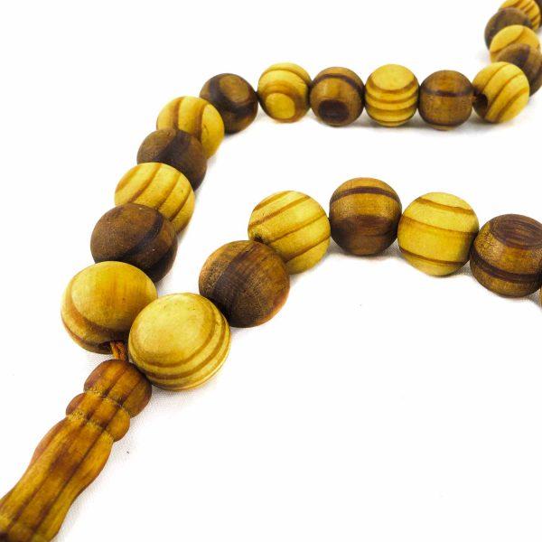 تسبیح چوبی 100 دانه دستساز کردستان کد 104