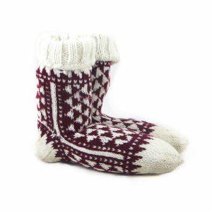 جوراب پنبه پلی استر بچه گانه دستباف سنتی کردستان کد 1