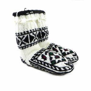 جوراب بافتنی کاموایی بچه گانه کردستان کد 5