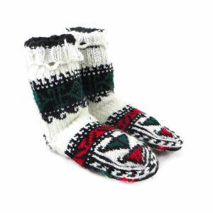 جوراب بافتنی کاموایی بچه گانه کردستان کد 7