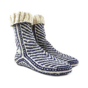 جوراب پشمی مردانه دستبافت سنتی کردستان کد 121