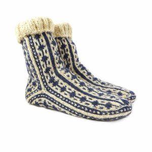 جوراب پشمی مردانه دستبافت سنتی کردستان کد 123
