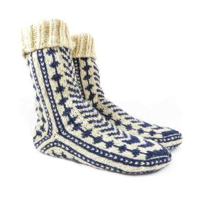 جوراب پشمی مردانه دستبافت سنتی کردستان کد 126