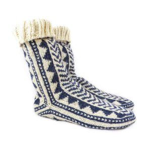 جوراب پشمی مردانه دستبافت سنتی کردستان کد 127