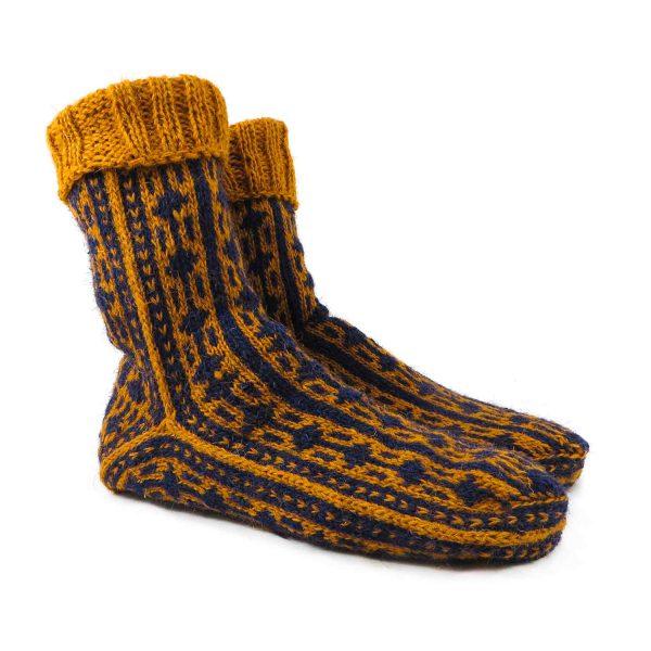 جوراب پشمی مردانه دستباف سنتی کردستان کد 133