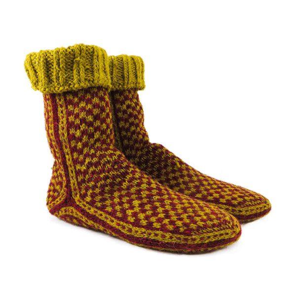 جوراب پشمی مردانه دستباف سنتی کردستان کد 135