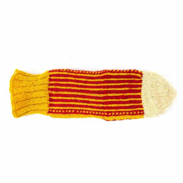 جوراب پشمی مردانه دستباف سنتی کردستان کد 136