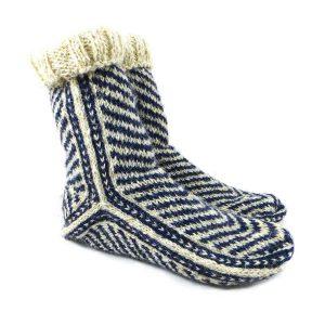 جوراب پشمی مردانه دستباف سنتی کردستان کد 137