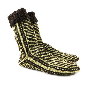 جوراب پشمی مردانه دستباف سنتی کردستان کد 138