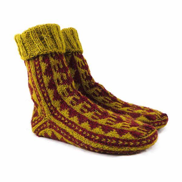 جوراب پشمی مردانه دستباف سنتی کردستان کد 142