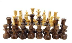 مهره شطرنج چوبی دست ساز طرح داوین