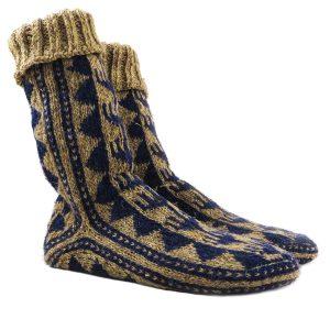 جوراب پشمی دستباف سنتی کردستان کد 211 سایز 40-41