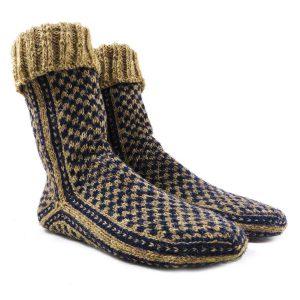 جوراب پشمی دستباف سنتی کردستان کد 210 سایز 40-41