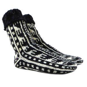 جوراب پشمی دستباف سنتی کردستان کد 218 سایز 41-42