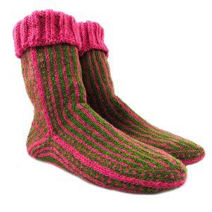 جوراب پشمی دستباف سنتی کردستان کد 206 سایز 41-42