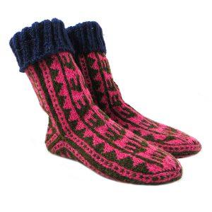 جوراب پشمی دستباف سنتی کردستان کد 209 سایز 41-42