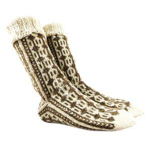 جوراب پشمی دستباف سنتی کردستان کد 213 سایز 40-41