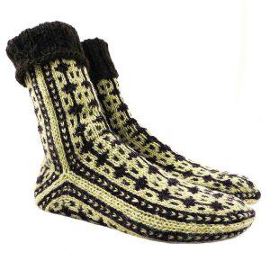 جوراب پشمی دستباف سنتی کردستان کد 214 سایز 41-42