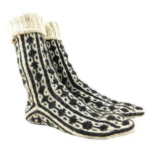 جوراب پشمی دستباف سنتی کردستان کد 217 سایز 39