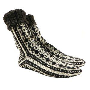 جوراب پشمی دستباف سنتی کردستان کد 216 سایز 39-40